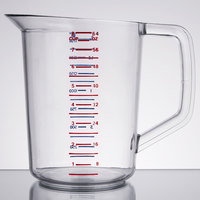 Rubbermaid FG321600CLR Bouncer 2 Quart Polycarbonate Plastic Measuring Cup