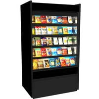 Structural Concepts B3632D Oasis Black 36 5/8 inch Non-Refrigerated Self-Service Display Case / Merchandiser - 110/120V