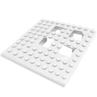 Cactus Mat Dri-Dek 2554-WC White 2 inch x 2 inch Interlocking Vinyl Drain Tile Corner Piece - 9/16 inch Thick