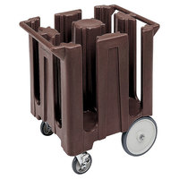 Cambro DC825131 Dark Brown Poker Chip Dish Dolly / Caddy with Vinyl Cover - 4 Column