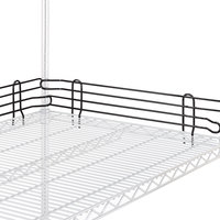 Metro L48N-4BL Super Erecta Black Stackable Ledge 48 inch x 4 inch