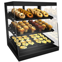 Structural Concepts CGS2830 Impulse Black 28 inch Countertop Bakery Display Case with Swinging Rear Doors