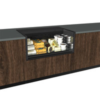 Structural Concepts CO3324R-CH Oasis Black 36 1/4 inch Shallow Depth Counter Height Air Curtain Merchandiser
