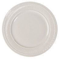 9 3/8 inch Ivory (American White) Embossed Rim China Plate   - 24/Case