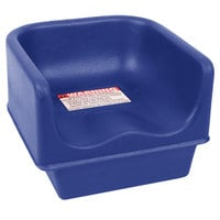 Cambro 100BC186 Navy Blue Plastic Booster Seat - Single Height