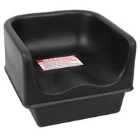 Cambro 100BC110 Black Plastic Booster Seat - Single Height
