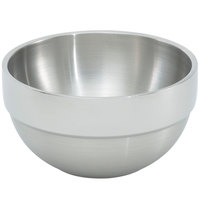 Vollrath 46669 10.1 qt. Double Wall Stainless Steel Round Satin-Finished Serving Bowl