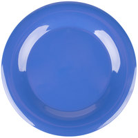 Carlisle 3302414 Sierrus 12 inch Ocean Blue Wide Rim Melamine Plate - 12/Case