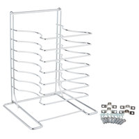 American Metalcraft 19107 7 Slot Wall Mounted Pizza Pan Rack with Wall Mounting Hardware