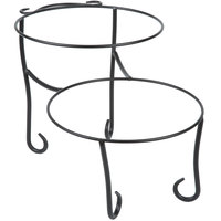 American Metalcraft TLSP1219 Two-Tier Wrought Iron Display Stand with Curled Feet