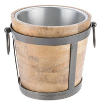 10 Strawberry Street TELL-10WINEBKT Telluride Natural Wood 128 oz. Wine / Ice Bucket