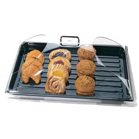 Cambro DD1220BECW Camwear Clear Dome Display Cover with 2 End Cuts - 12 inch x 20 inch