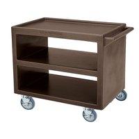 Cambro BC2354S Dark Brown Three Shelf Service Cart - 37 1/4 inch x 21 1/2 inch x 34 5/4 inch
