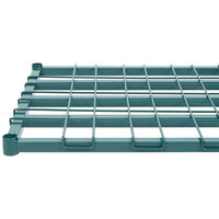 Regency 24 inch x 60 inch Green Epoxy Heavy-Duty Dunnage Shelf with Wire Mat - 800 lb. Capacity