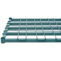 Regency 24 inch x 60 inch Green Epoxy Heavy-Duty Dunnage Shelf with Wire Mat - 800 lb. Capacity