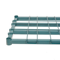 Regency 18 inch x 60 inch Green Epoxy Heavy-Duty Dunnage Shelf with Wire Mat - 800 lb. Capacity