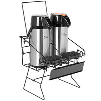 Choice 3-Piece Regular / Decaf Merchandising Rack Set with (1) Rack and (2) 2.2. Liter Glass Lined Airpots