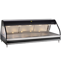 Alto-Shaam ED2-72 Black Heated Display Case with Curved Glass - Full Service 72 inch