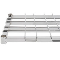 Regency 18 inch x 60 inch Chrome Heavy-Duty Dunnage Shelf with Wire Mat - 800 lb. Capacity