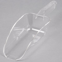 Choice 24 oz. Clear Plastic Utility Scoop