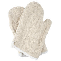 Choice 13 inch Terry Oven Mitts - 2/Pack