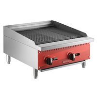 Avantco AG24RC 24 inch Gas Countertop Radiant Charbroiler - 70,000 BTU