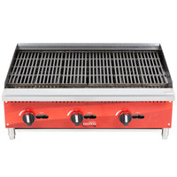 Avantco AG36RC 36 inch Gas Countertop Radiant Charbroiler - 105,000 BTU