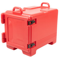 Cambro UPC300158 Ultra Pan Carrier® Hot Red Front Loading Insulated Food Pan Carrier with Handles - Holds 4 Pans