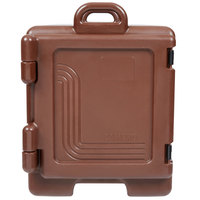 Cambro UPC300131 Ultra Pan Carrier Dark Brown Front Loading Insulated Food Pan Carrier with Handles
