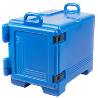 Cambro UPC300186 Ultra Pan Carrier® Navy Blue Front Loading Insulated Food Pan Carrier with Handles - Holds 4 Pans