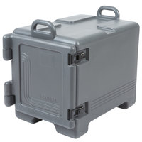 Cambro UPC300615 Ultra Pan Carrier® Charcoal Gray Front Loading Insulated Food Pan Carrier with Handles - Holds 4 Pans