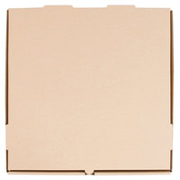 16 inch x 16 inch x 1 3/4 inch Kraft Corrugated Plain Pizza / Bakery Box   - 50/Bundle