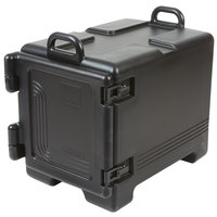 Cambro UPC300110 Ultra Pan Carrier® Black Front Loading Insulated Food Pan Carrier with Handles - Holds 4 Pans