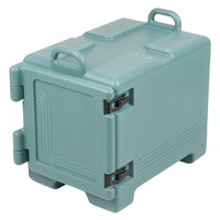 Cambro UPC300401 Ultra Pan Carrier® Slate Blue Front Loading Insulated Food Pan Carrier with Handles - Holds 4 Pans