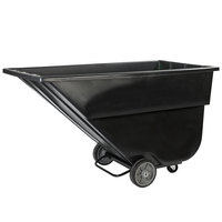 Carlisle TTS15003 Black Standard Duty 1.5 Cubic Yard Utility Tilt Truck / Trash Cart (1200 lb.)