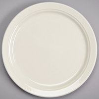 Homer Laughlin HL3457000 Gothic 7 1/4 inch Ivory (American White) China Plate - 36/Case