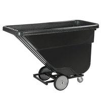 Carlisle TTS58003 Black Standard Duty 0.625 Cubic Yard Utility Tilt Truck / Trash Cart (850 lb.)