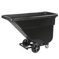Carlisle TTLD58003 Black Light Duty 0.625 Cubic Yard Utility Tilt Truck / Trash Cart