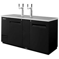 Turbo Air TBD-3SB Black 69 inch Beer Dispenser - 3 Kegs