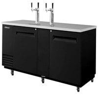 "Turbo Air TBD-3SB Black 69"" Beer Dispenser - 3 Kegs"