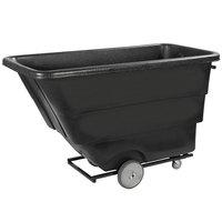 Carlisle TTH10003 Black Heavy Duty 1 Cubic Yard Utility Tilt Truck / Trash Cart