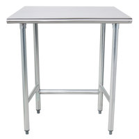 Advance Tabco TAG-303 30 inch x 36 inch 16 Gauge Open Base Stainless Steel Commercial Work Table