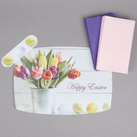 Hoffmaster 856783 10 inch x 14 inch Easter Placemat Combo Pack