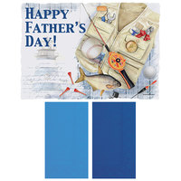 Hoffmaster 856780 10 inch x 14 inch Father's Day Placemat Combo Pack - 250/Case