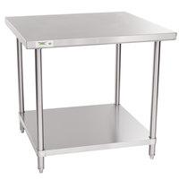 Regency 36 inch x 36 inch 16 Gauge Stainless Steel Commercial Work Table with Undershelf