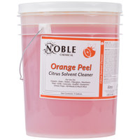 Noble Chemical 5 Gallon Orange Peel Citrus Solvent Cleaner - Ecolab® 14559 Alternative