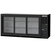 Beverage-Air BB72HC-1-GS-B 72 inch Black Sliding Glass Door Back Bar Refrigerator