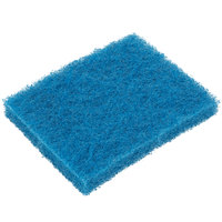 3M 9488R Scotch Brite™ 4 inch x 5 1/4 inch Blue Non-Stick Cookware Cleaning Pad   - 40/Case