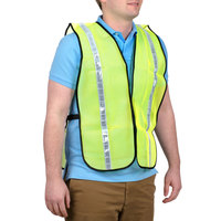 Lime High Visibility Safety Vest with 1 inch Reflective Tape