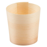 Tablecraft BAMDCP2 2 oz. Mini Wooden Disposable Serving Cup - 50/Pack